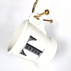 Anthropologie Monogram Mug T Lettered Coffee Cup